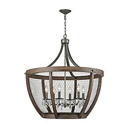 Dimond Lighting Renaissance Invention 6-Light Wide Basket Pendant in Zinc