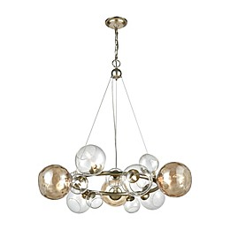 Bubbles 9-Light Chandelier in Champagne/Silver