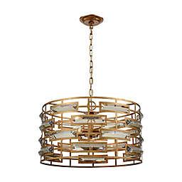 Dimond Lighting Metro 5-Light Crystal Pendant Light in Gold