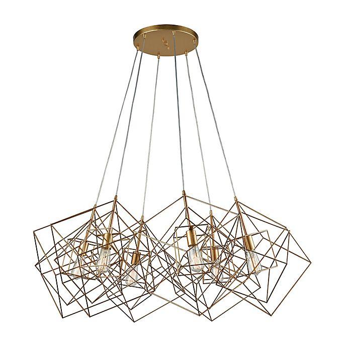 Alternate image 1 for Dimond Lighting 6-Light Ceiling-Mount Cluster Pendant in Gold