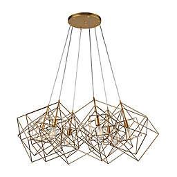 Dimond Lighting 6-Light Ceiling-Mount Cluster Pendant in Gold