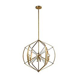 Dimond Lighting Mercury 6-Light Pendant Fixture in Antique Gold