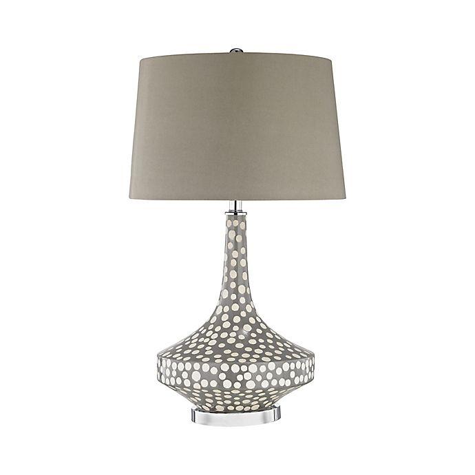 Alternate image 1 for Dimond Lighting Gigi Table Lamp in Grey Polka Dot