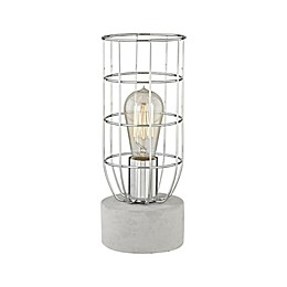 Diamond Lighting Wardenclyffe Table Lamp in Concrete with Metal Shade