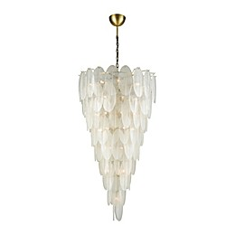 Diamond Lighting 42-Light Hush Pendant Chandelier in White