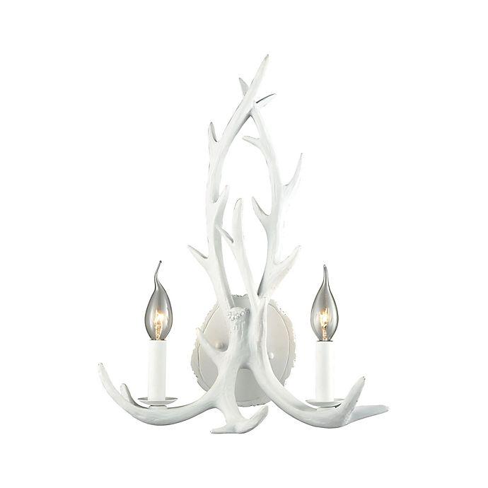 Alternate image 1 for Dimond Lighting Big Sky 2-Light Wall Sconce in White