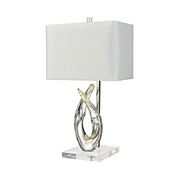Dimond Lighting Savoie Table Lamp in Sky with Faux Silk Shade