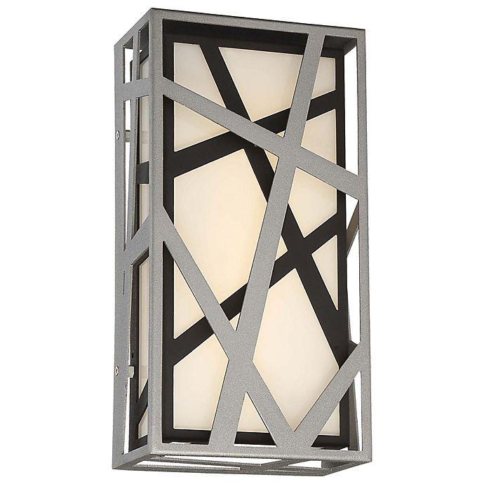 Alternate image 1 for Minka Kovacs® Duvera Outdoor LED Wall Sconce in Silver