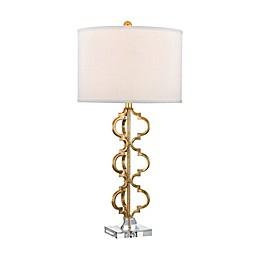 Dimond Lighting Castile Table Lamp in Gold Leaf