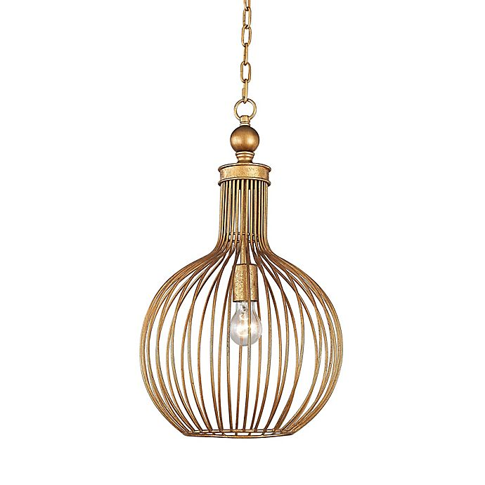 Alternate image 1 for Dimond Lighting Five Cays 1-Light Pendant in Gold