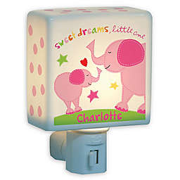 Girl Elephant Nightlight in Pink
