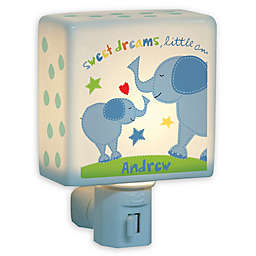 Boy Elephant Nightlight in Blue