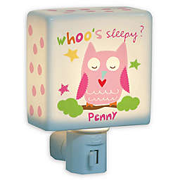 Girl Owl Nightlight in Pink