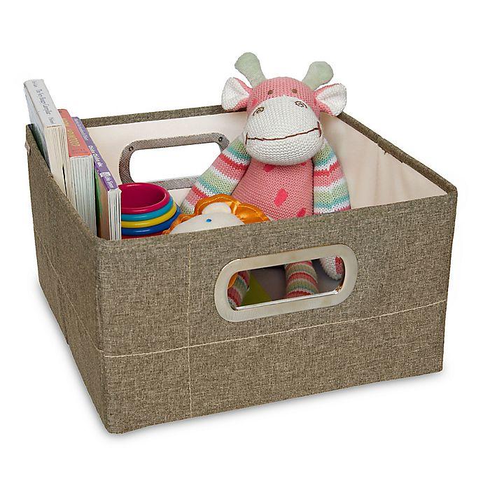 Alternate image 1 for JJ Cole® 6.5-Inch Storage Box in Greige