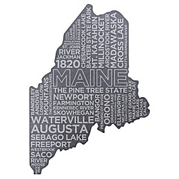 Top Shelf Living Maine Etched Slate Cheese Board