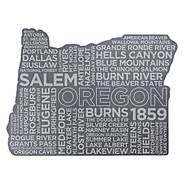 Top Shelf Living Oregon Etched Slate Cheese Board