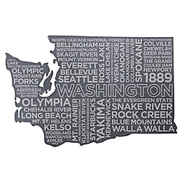 Top Shelf Living Washington Etched Slate Cheese Board