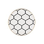 Nevaeh White® by Fitz and Floyd® Lattice Salad Plate in Black/Gold
