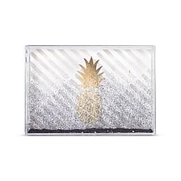 "Arte de Casa ""Pineapple"" Snowglobe Glitter Frame"
