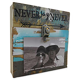 Sweet Bird & Co. Never Say Never 8-Inch Square Reclaimed Wood Clip Frame