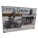 Sweet Bird & Co.  Live the Dream  2-Photo Collage Reclaimed Wood Clip Picture Frame