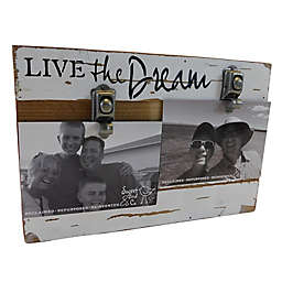 Sweet Bird & Co. Live The Dream 8-Inch x 12-Inch Reclaimed Wood Clip Frame