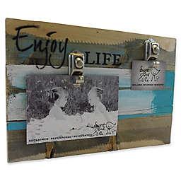 Sweet Bird & Co. Enjoy Life 8-Inch x 12-Inch Reclaimed Wood Clip Frame