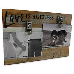 Sweet Bird & Co. Love Is Ageless 8-Inch x 12-Inch Reclaimed Wood Clip Frame