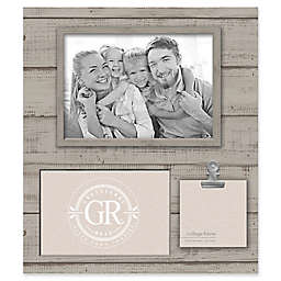 Grasslands Road® Shiplap 3-Opening Frame in Grey/Beige
