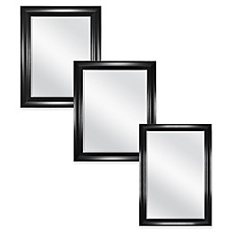 Carson Wall Mirror in Black/Silver
