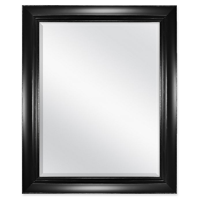 Alternate image 1 for Carson 27.5-Inch x 33.5-Inch Wall Mirror in Black/Silver