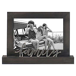 Rustic Joanna Family 4-Inch x 6-Inch Wood Picture Frame in Charcoal