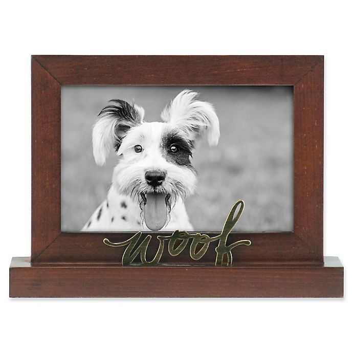 Alternate image 1 for Rustic Joanna Woof 4-Inch x 6-Inch Wood Picture Frame in Chestnut