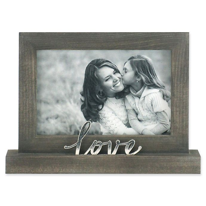Alternate image 1 for Rustic Joanna Love 4-Inch x 6-Inch Wood Picture Frame in Grey