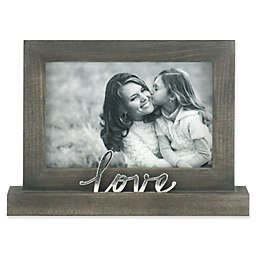 Rustic Joanna Love 4-Inch x 6-Inch Wood Picture Frame in Grey