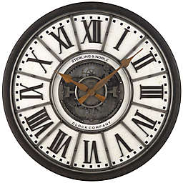 Sterling & Noble™ 29-Inch Industrial Gear Wall Clock