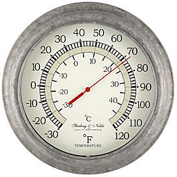 Sterling & Noble Vintage Indoor/Outdoor Wall Thermometer