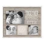 Grasslands Road  Together  Shiplap 4-Photo Clip Collage Picture Frame