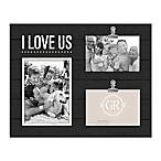 Grasslands Road 14.9-Inch x 11.9-Inch I Love Us Shiplap Wood Collage Frame in Black