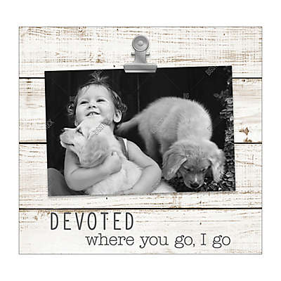 "Grasslands Road® ""Devoted. Where you go, I go"" Photo Frame in White"