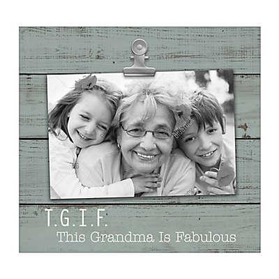 "Grasslands Road® ""TGIF Grandma"" 4-Inch x 6-Inch Photo Frame in Blue"