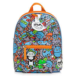 Babymel™ Zip & Zoe Robot Faces Mini Backpack in Blue
