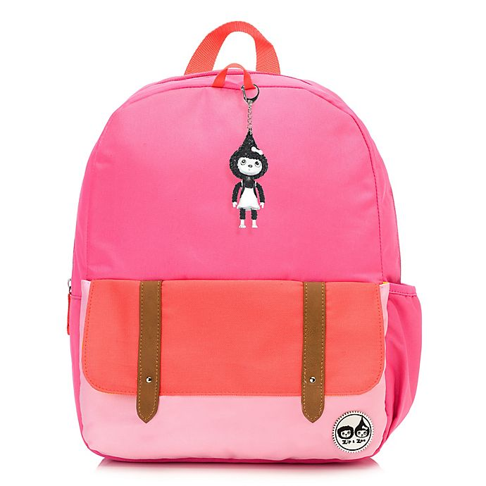 Alternate image 1 for Babymel™ Zip & Zoe Junior Color Block Backpack in Bright Pink