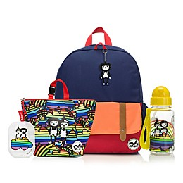 BabyMel™ Zip and Zoe Navy Rainbow Bundle Junior Backpack