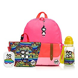 BabyMel™ Zip and Zoe Bright Pink Rainbow Bundle Junior Backpack