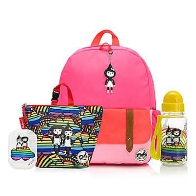 BabyMel™ Zip and Zoe Bright Pink Rainbow Bundle Junior Backpack