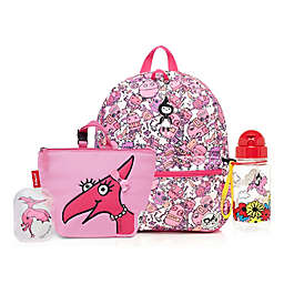 BabyMel™ Zip and Zoe Robots Pink/Daisy Junior Backpack