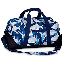 Wildkin Sharks Overnighter Duffle Bag in Blue