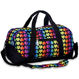 Wildkin Rainbow Hearts Overnighter Duffle Bag in Black