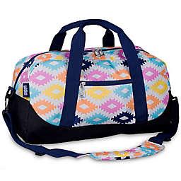 Wildkin Aztec Overnighter Duffle Bag in Blue